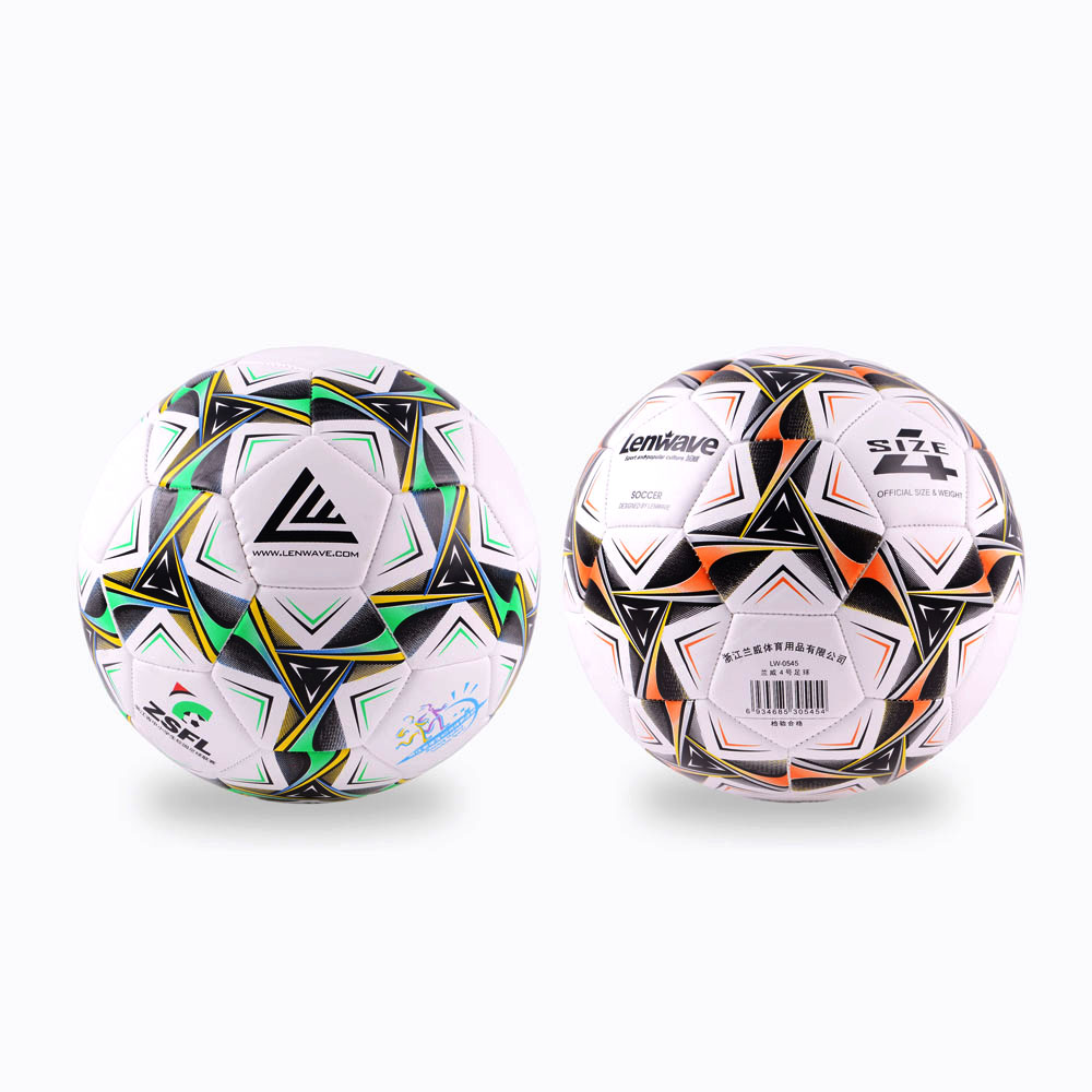Two Color PVC Soccer Ball Size 4 Primary And Middle School Students Training Equipment Football Ball(China (Mainland))