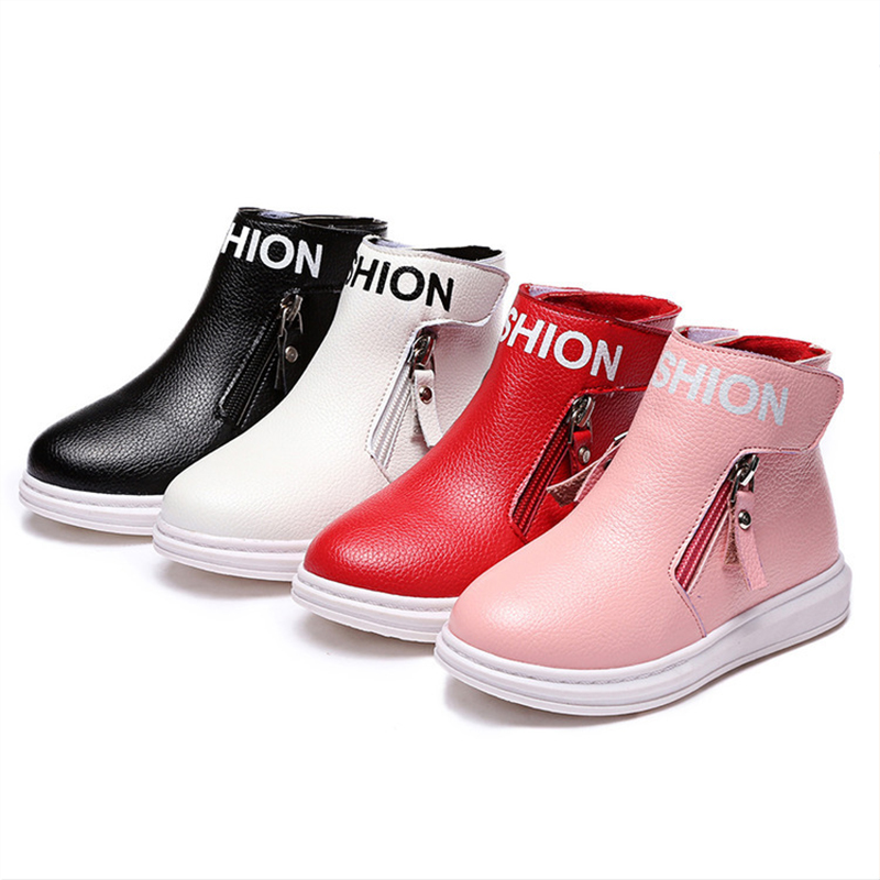 Princess Snow Boots For Girls Waterproof Footwear 2015 Fashion Womens Winter Shoes Geniune Leather Chlidren's Shoes Luxury 4-12Y