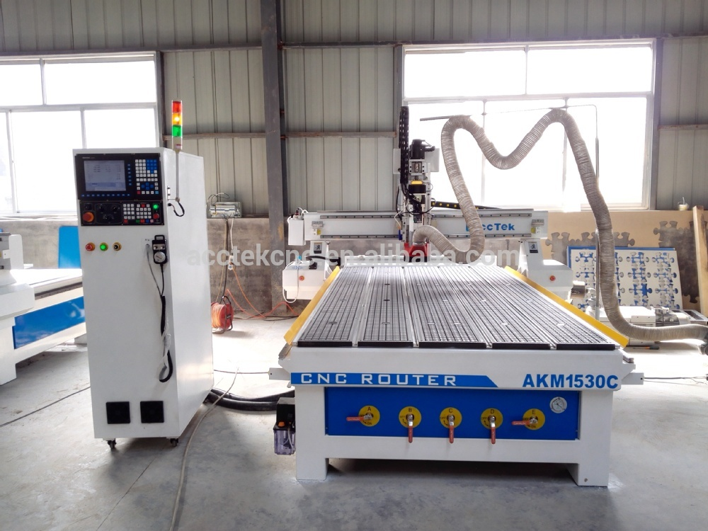 ATC spindle vacuum T-slot table cnc router woodworking stone cutting machine cnc machine price 1530(China (Mainland))