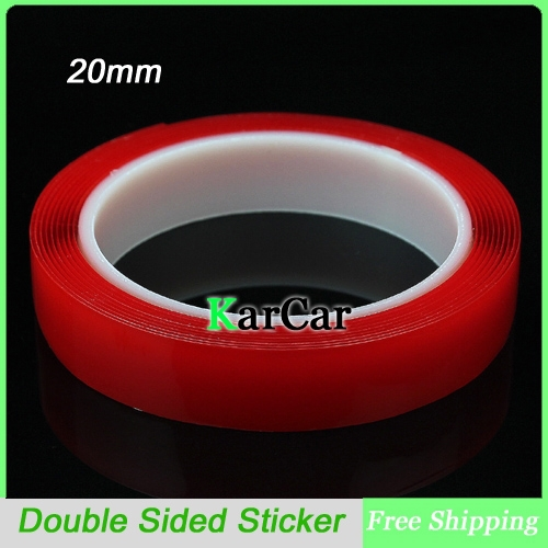 3m x 20mm Width Transparent Silicone Double Sided Tape Sticker For Car Accessories, High Strength No Traces Adhesive Sticker(China (Mainland))