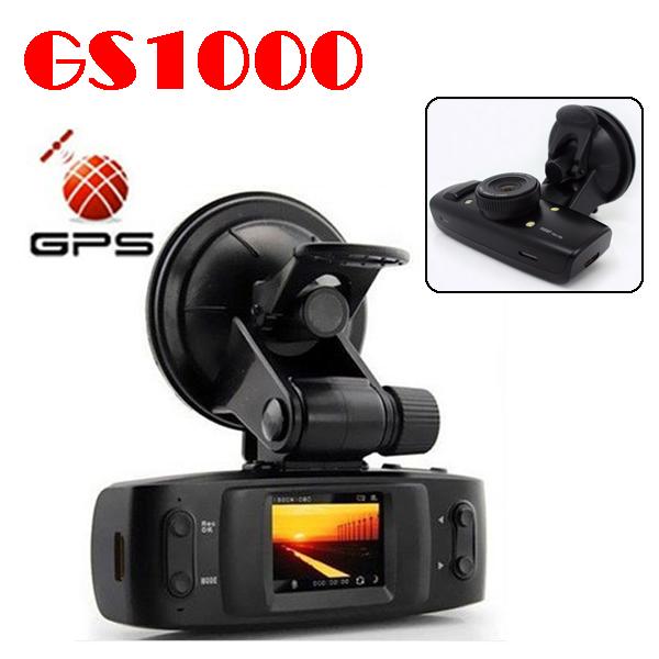 50% shipping fee GS1000 GPS + G-Sensor 5MP H.264 Full HD 1920x1080p 30FPS Car Recorder w/1.5' HDMI/Seamless Cycle Record(China (Mainland))