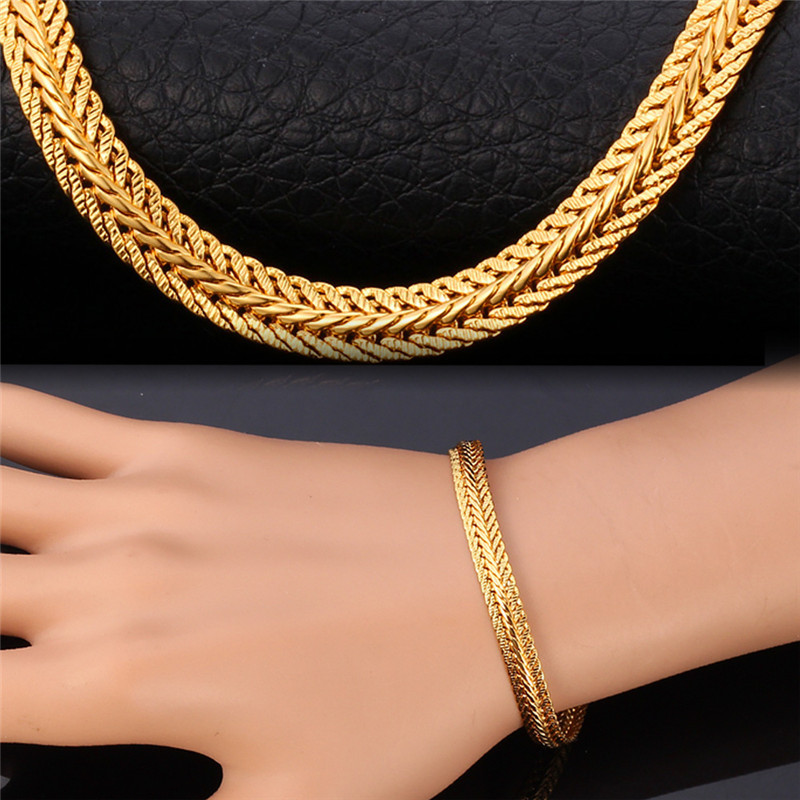 Men chain bracelet 18K Real Gold Plated free shipping Men Jewelry With '18K' Stamp 21cm 6MM men bracelet gift HOT H550(China (Mainland))
