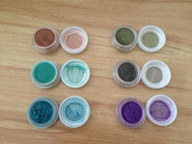 Solid color pearl eye shadow powder brighten glitter single high light eyeshadow formula