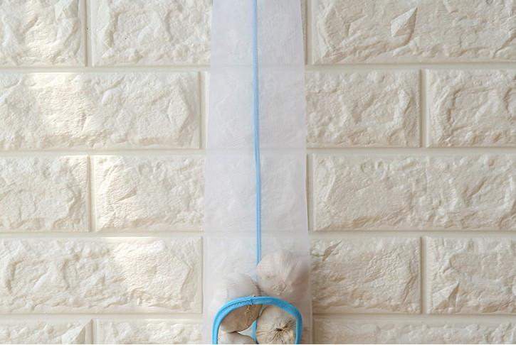 1PC Hanging Mesh Storage Bag Dispenser Kitchen Reusable Grocery Bag Potatoes Garlic Garbage Bag Organizer Trash Bag Holder