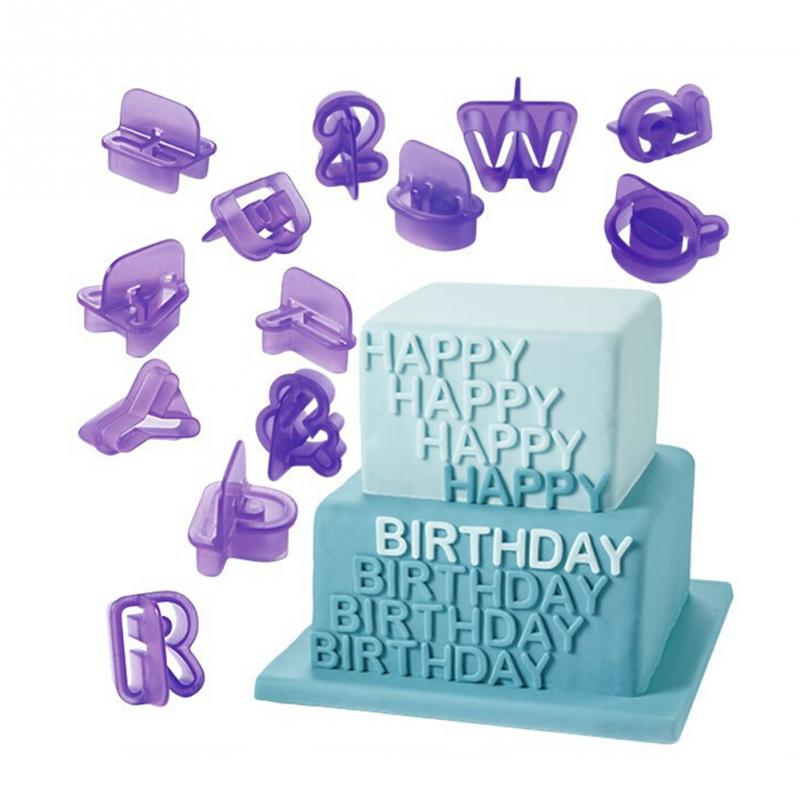 Birthday Party Tool 40 PCS/Lot Letters Number Alphabet Plastic Cake Decorating DIY fondant Moulds Cookie Biscuit Cutters Set(China (Mainland))