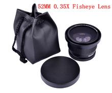 Digital HD 52mm 0.35x Fisheye Macro Wide Angle Lens for Nikon D7000 D7100 D5200 D5100 D5000 D3100 D3000 D90 D40 D60 18-55mm Lens(China (Mainland))