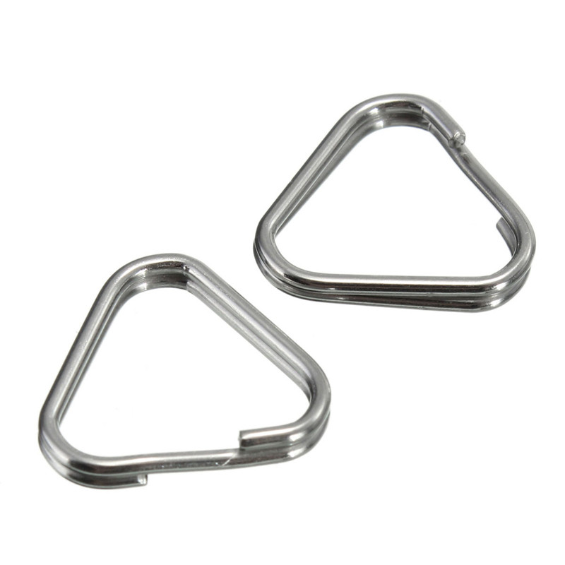 2Pcs Replacement Metal Chrome Finish Camera Strap Split Ring Triangle Rings Hook For Camera Strap(China (Mainland))