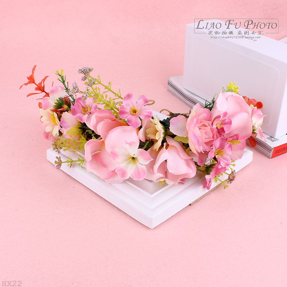 Fashion Jewelry Bridal Flower Headband Wedding Party Floral Garland Hair Bands Headwear Drop Shipping It Can Be Used With Hat(China (Mainland))