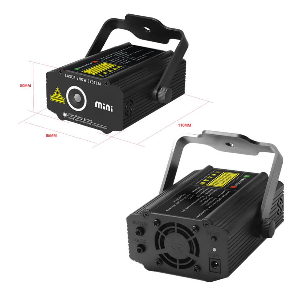 New mini portable rg meteor laser projector lights dj ktv for Best portable laser projector