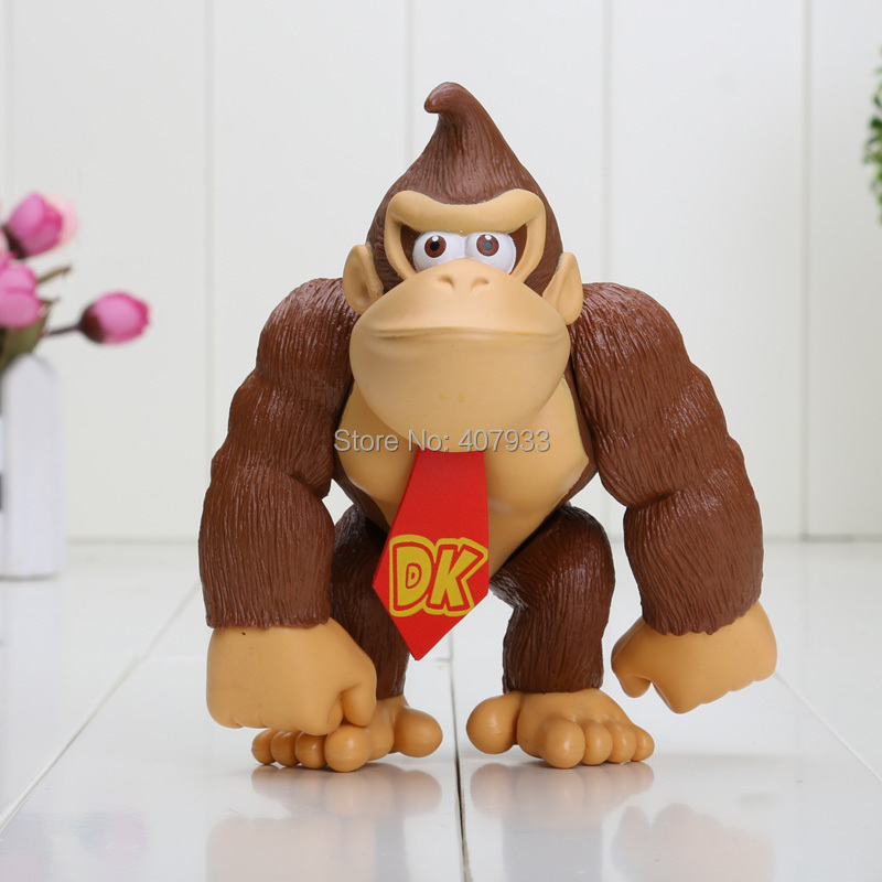 DONKEY KONG 1piece 6'' SUPER MARIO BROS PVC FIGURE TOY Action Figure Free Shipping Retail(China (Mainland))