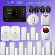 wifi alarm GSM GPRS Home Security Alarm System Android& iOS APP Control with Wireless outdoor flash siren Detector Sensor