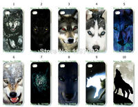 2014 HOT new design 1pcs/lot wholesale wolf hard white case cover for iphone5 5s + free shipping