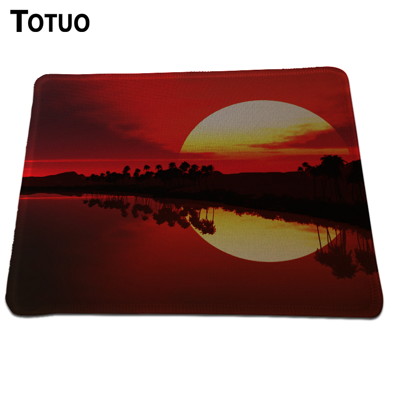 Hot Sell Sunset glow Mouse Pad Background Pattern High quality Durable Gaming Anti-slip Mouse Mat Rectangular Lock Edge Pads(China (Mainland))
