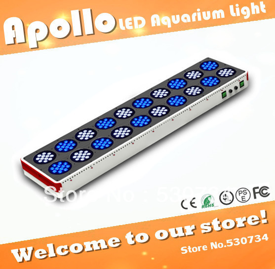Apollo 20 240*3W LED aquarium light for saltwater reef, high power led aquarium