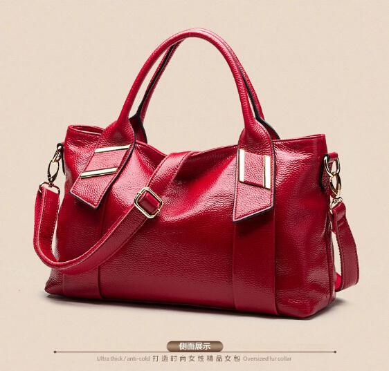 100% Genuine leather Women handbags 2015 factory wholesale fashion handbags high-end portable leisure female bag shoulder bag(China (Mainland))