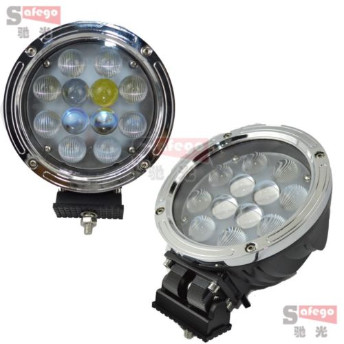 2X LED Work light 60W 4x4 Offroad Bar 5100lm 12leds driving lighting 60w protective lamp cover Transparent work light(China (Mainland))