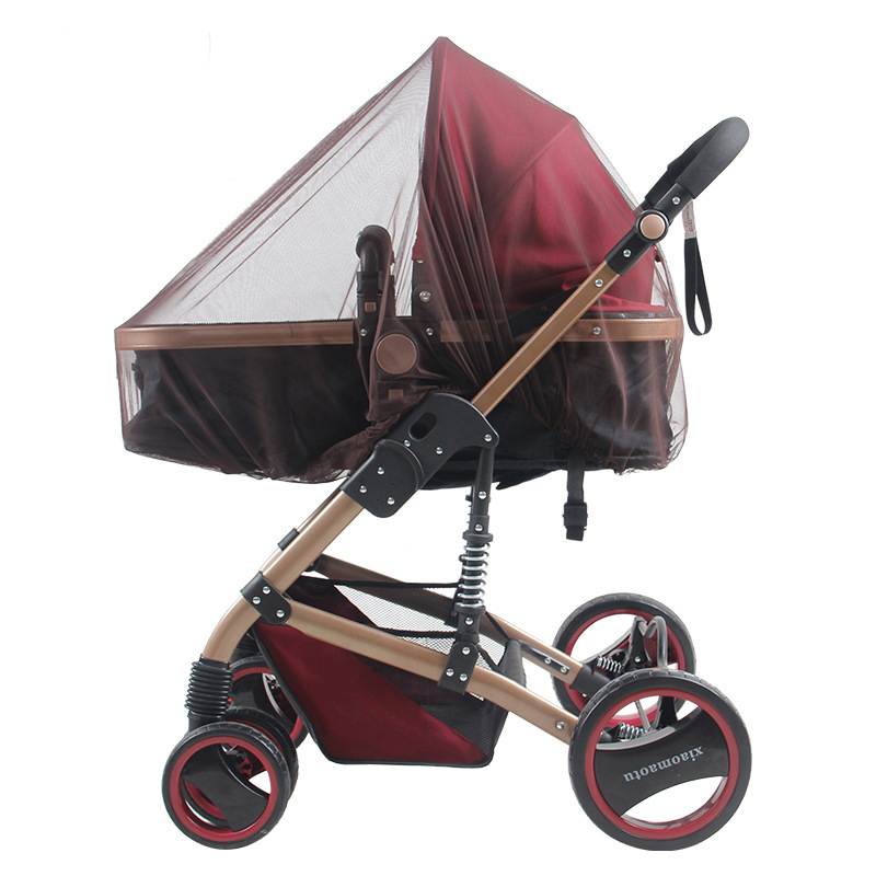 Outdoor Baby Infant Kids Stroller Mosquito Insect Net Mesh Pushchair Whole Cover Tent Stroller Accessories