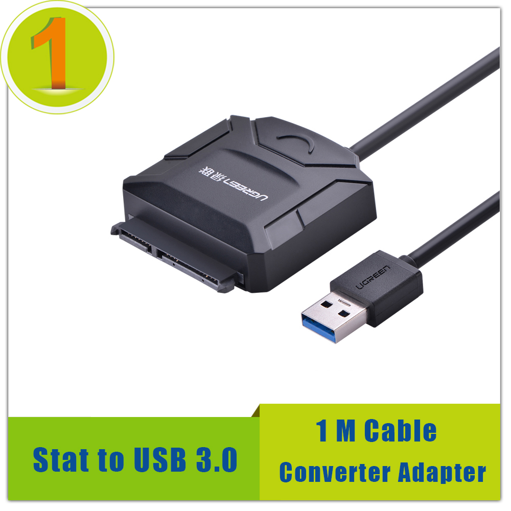 High Quality Sata To Usb 3.0 Converter 1M Wire Length Converter Adapter For 2.5 3.5 Inch Hard Drive HDD SSD Free Shipping(China (Mainland))