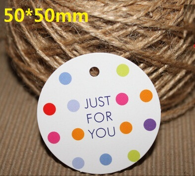 50mm/Vintage Round JUST FOR YOU Dots design Kraft Paper Gift Tag/DIY Multifunction card/Bookmark/wholesale<br><br>Aliexpress