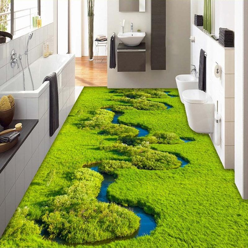 Popular pvc floor coverings buy cheap pvc floor coverings for Bathroom floor covering