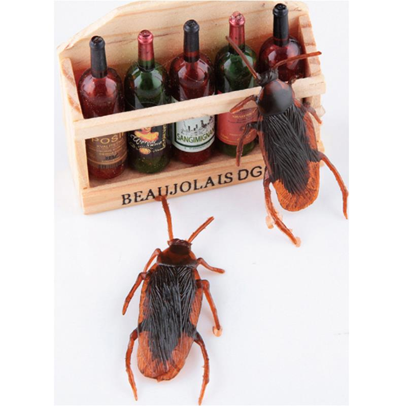 100pcs Simulation Cockroaches Rubber Prank Toys New Halloween Horror Dolls Gadgets Novelty Gift funny party favor free shipping(China (Mainland))
