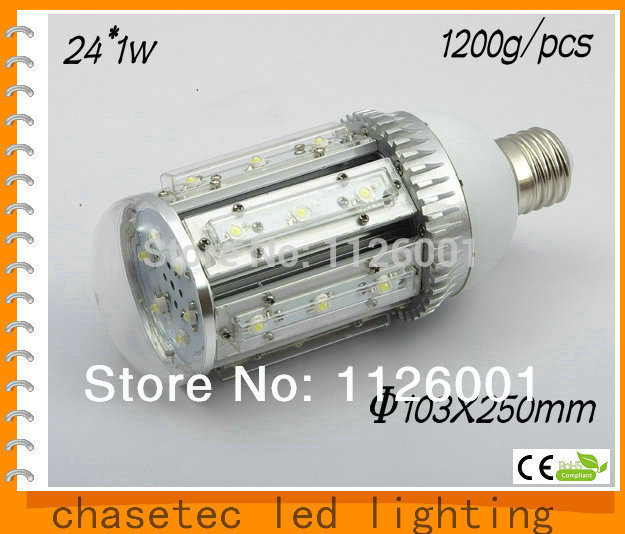 2015 Rushed Real Emc Street Led 3pcs/lot,e40 Led Corn Street Light With 24w Power, 85 To 265v Ac Voltage, Ce And Rohs-certified(China (Mainland))