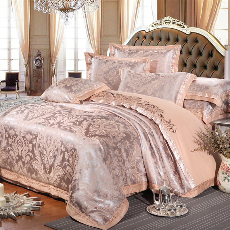 chinese wedding style jacquard bedding 100 cotton. Black Bedroom Furniture Sets. Home Design Ideas