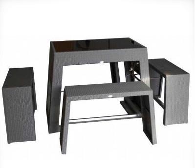 Achetez en gros rotin table en verre en ligne des for Set de table en osier
