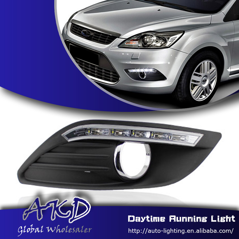 AKD One-Stop Shopping for Ford Focus DRL 2009-2011 Focus LED Daytime Running Light Fog Lamp Car Styling Automotive Accessories(China (Mainland))