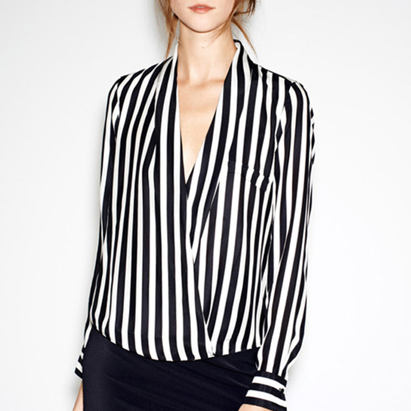 Black and White Vertical Striped Shirt Promotion-Shop for ...