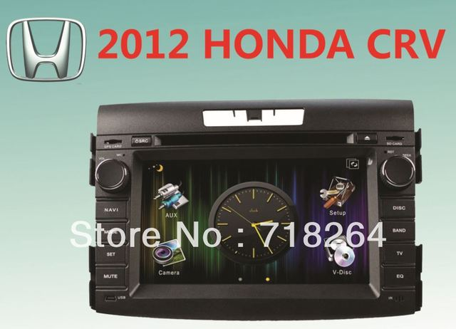"""free shipping! for HONDA CRV 7""""HD digital screen CAR DVD/GPS system with UI+PIP+SWC+ATV+IPOD+BT+RDS+AUX IN+GPS+CANBUS"""