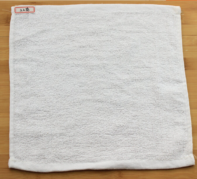 Cotton White Small Square Hand Bath Towel Commercial Hotel Facecloth(China (Mainland))