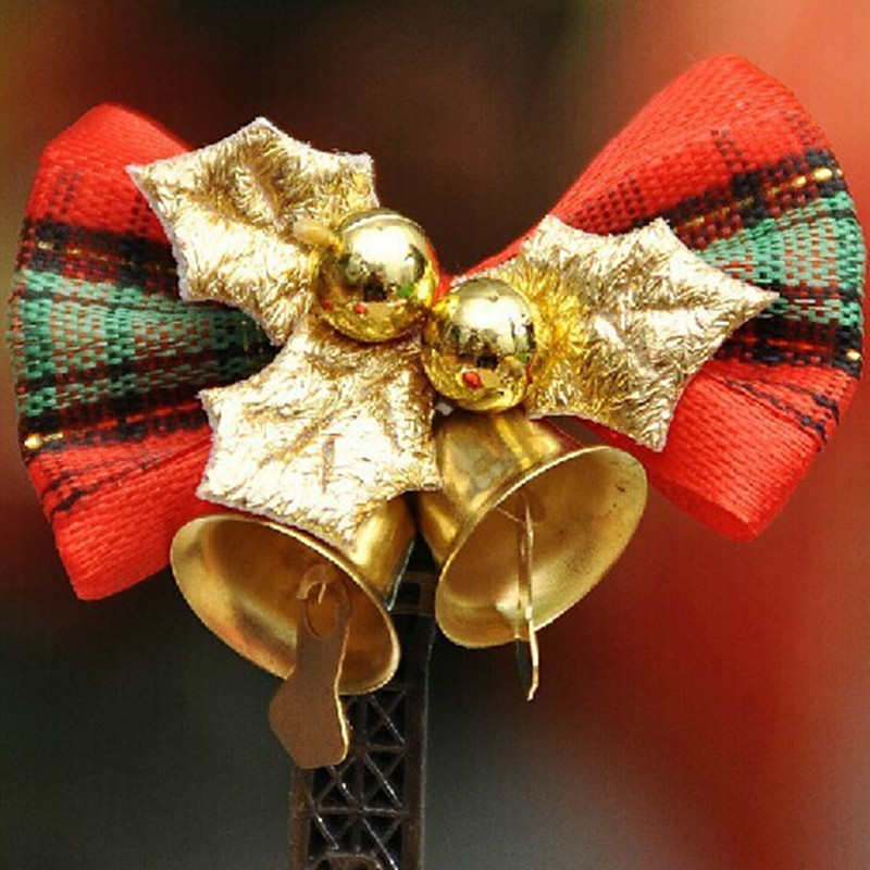 2014 New Arrival Free Shipping Christmas tree decoration 5cm Mini Bell bow christmas tree accessories products(China (Mainland))