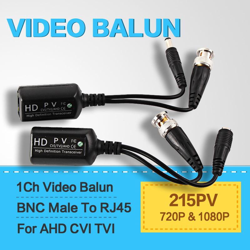 1CH Video Transmiter Video Balun 720P&1080P HDCVI AHD/HDTVI Camera BNC Connector TO RI45 Transceivers Adapter(China (Mainland))