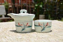 Hand-painted * Chinese Porcelain Ceramic Ware Gongfu Teapot & 2 Cups Tea Set
