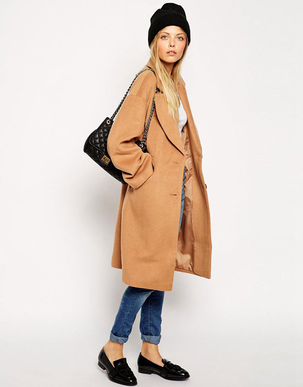 Wool coat camel ladies