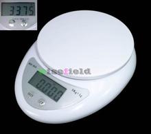 5000 g / 1 g 5 kg balanza Digital KitchenDiet Food Postal del peso de Balance electrónica