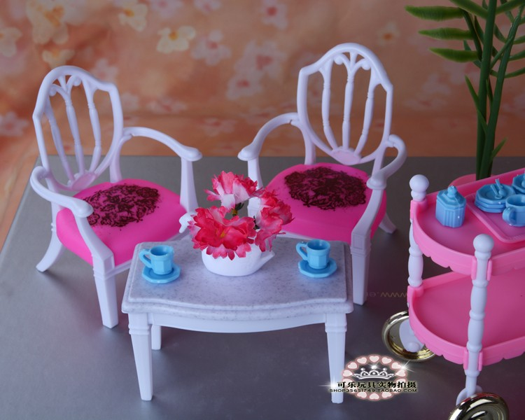 Doll Equipment Woman's toy dream Doll dollhouse Furnishings with field Dinner Desk for barbie Doll ,1/6 Doll