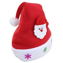 Buy New Kids Children Santa Claus Red Cap Snowflake Christmas Caps Xmas Party Hats Christmas Party Supplies for $2.14 in AliExpress store