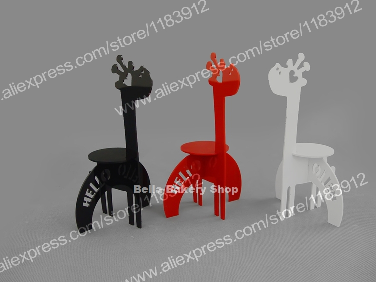NO.AS003 Giraffe Stand Animal Acrylic Cup Cake tower Pastry display Wedding Birthday Children Bakery Decorations(China (Mainland))