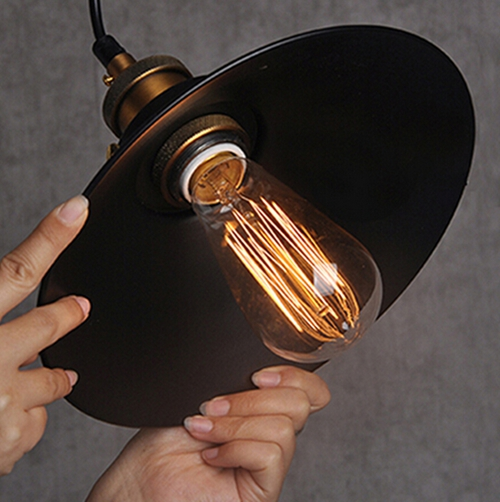 Hot Sale Edison Bulb Vintage Industrial Lighting Copper Lamp Holder Pendant Light American Aisle Lights Lamp 220v Light Fixtures<br><br>Aliexpress