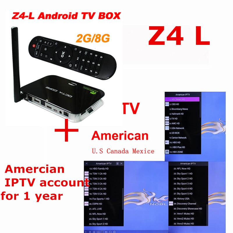 ANEWKODI Android TV BOX Z4 l + 60+ channels IPTV account RK3368 2GB/8GB Android 5.1 Quad Core XBMC KODI Fully Loaded WIFI BT4K(China (Mainland))