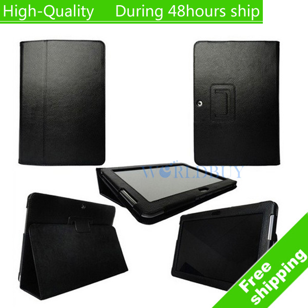 High Quality Leather Book Wallet Case Cover for Samsung Galaxy Tab 2 10.1 P5100 Free Shipping UPS DHL HKPAM CPAM HGF-45<br><br>Aliexpress