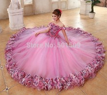 luxury beading floral ruffled embroidery decoration long puffy medieval dress Renaissance Gown princess Victori/Marie Antoinette