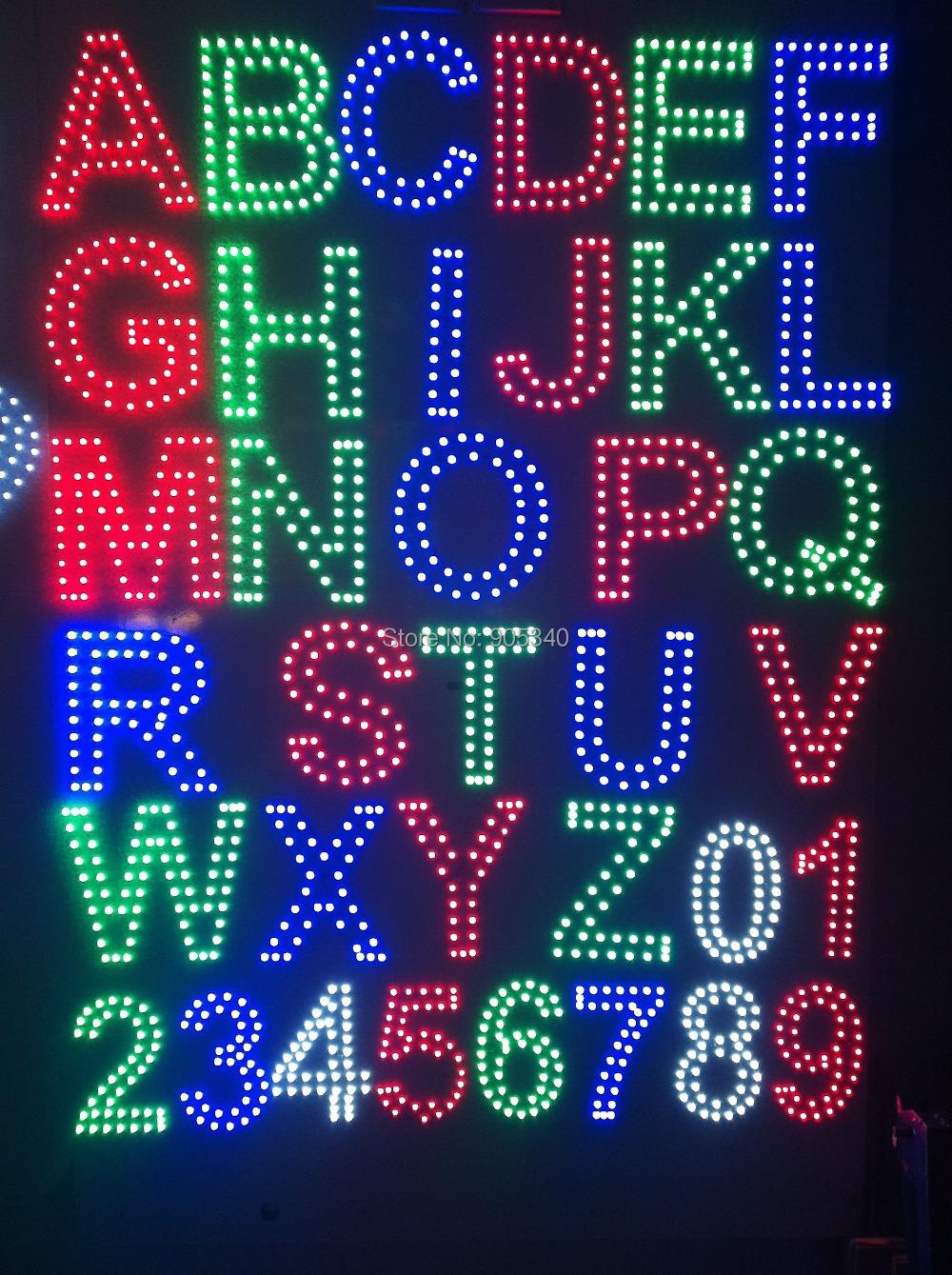Цифры из светодиодов