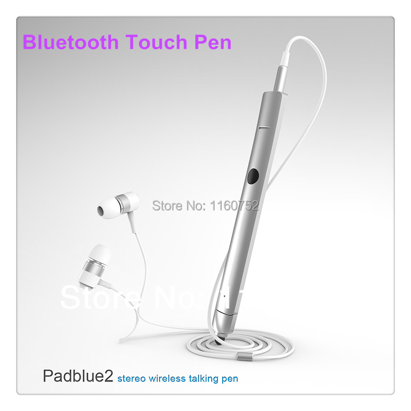 Free Shipping Brand New Silver Bluetooth Headset Stereo Stylus Touch Pen for Samsung N7100 N8000 iPad Mini 5piece/lot(China (Mainland))