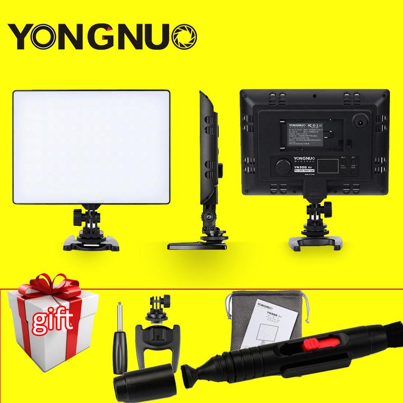 YONGNUO YN300 Air Ultra Thin LED Camera Video Light 3200K-5500K for Canon Nikon Pentax Olympas <font><b>Samsung</b></font> <font><b>DSLR</b></font> & Camcorder