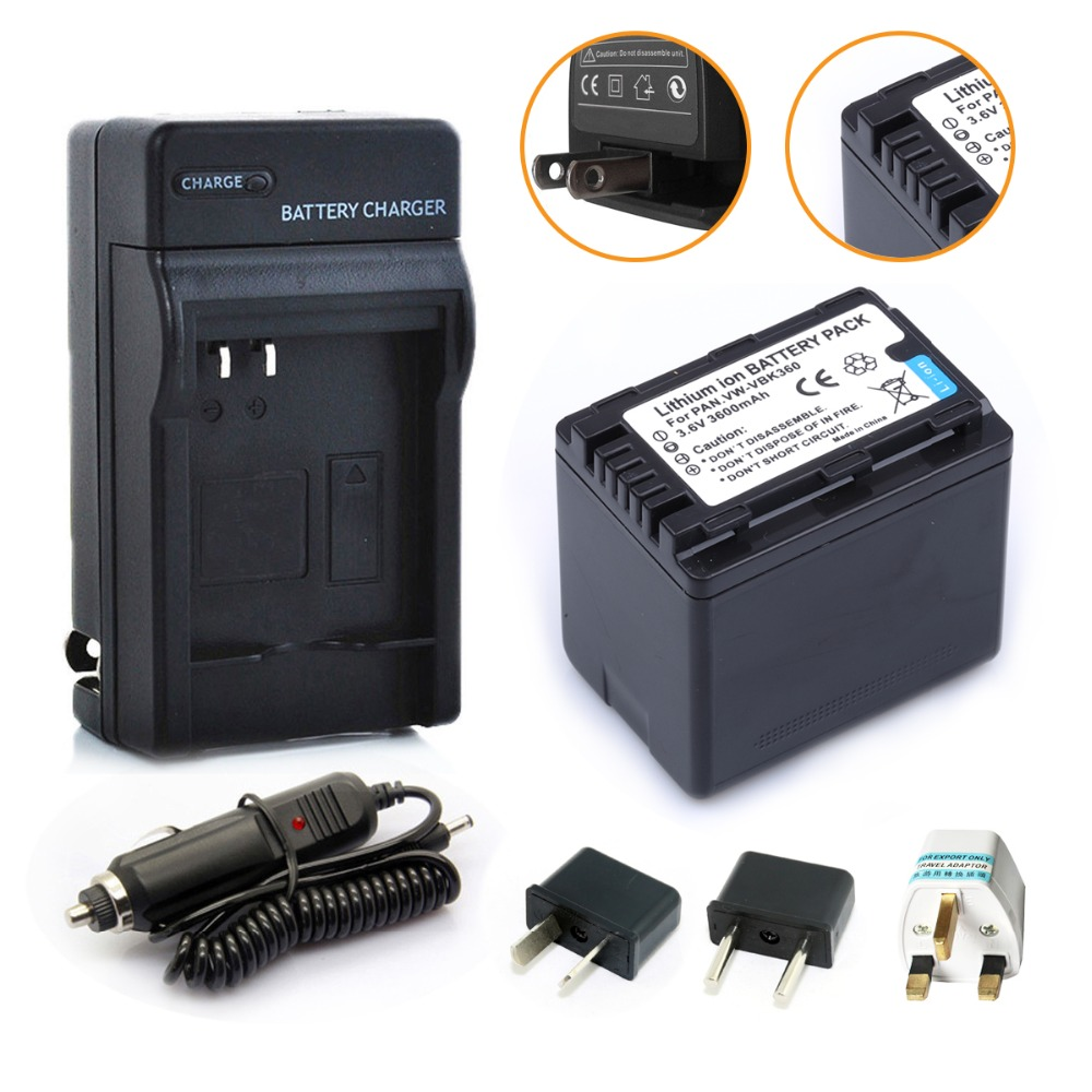 VW-VBK360 VBK360 Rechargeable Battery + Charger For Panasonic HDC-TM40 HDC-TM41 HDC-TM55 HDC-TM60 HDC-TM80 HDC-TM90 SD40 Camera<br><br>Aliexpress