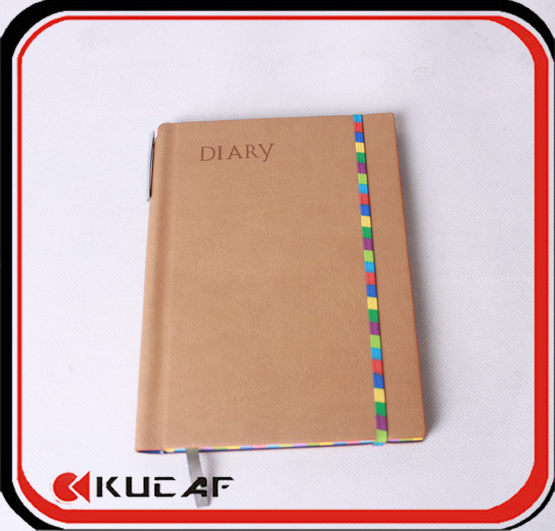 2016 leather diary with pen holder(China (Mainland))
