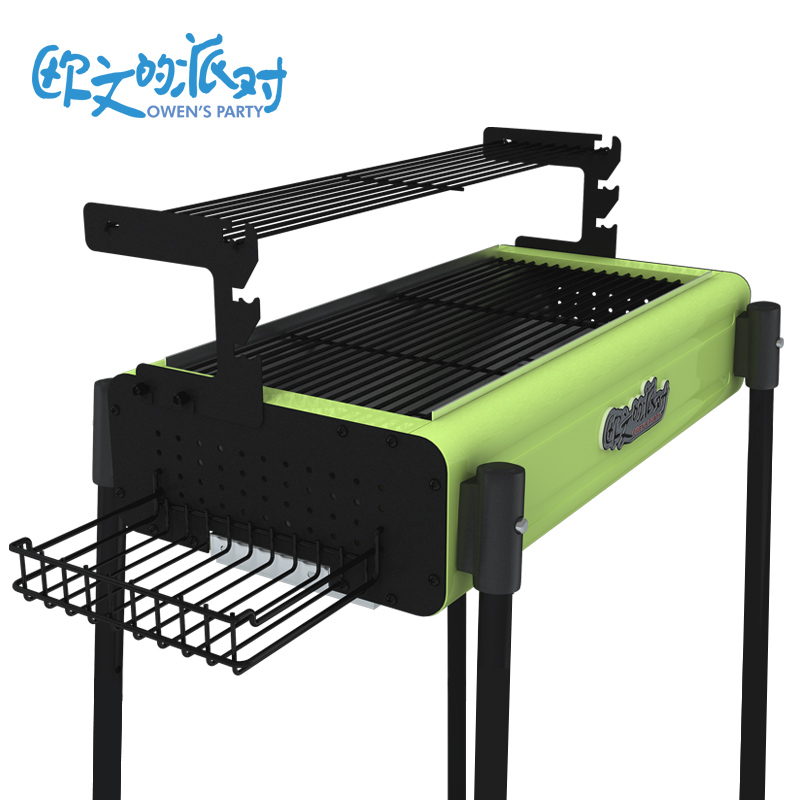 Barbecue grill,GaiaBBQ,1 pcs,Outdoor portable folding bbq grill charcoal rack full set of household grill(China (Mainland))